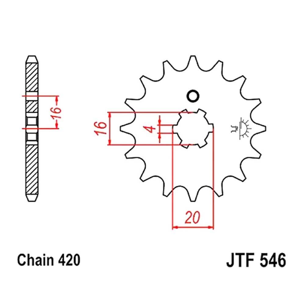 01-18 KAWASAKI KX85: JT Steel Front Sprocket