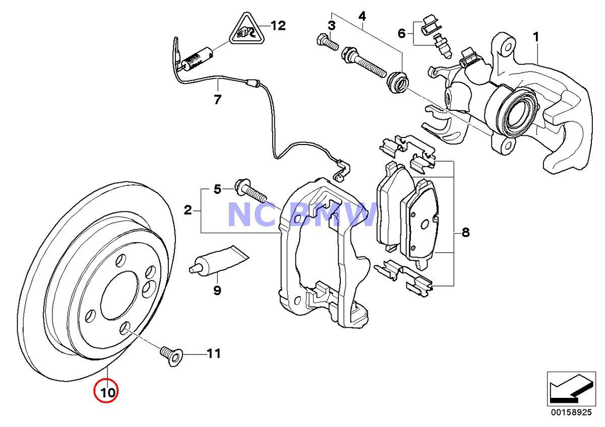 BMW Mini Brake Disc Rotor (280 X 10 mm) Coop.S JCW Cooper