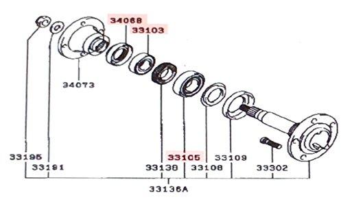 Genuine Mitsubishi Rear Wheel Bearing & Seal Kit MB569972