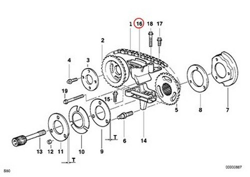 BMW OEM Timing Chain Tensioner for Camshaft to Camshaft