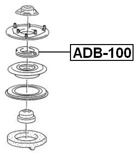 FEBEST ADB-100 Front Shock Absorber Bearing