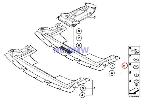 BMW Mini Genuine Underbody Paneling Undercar Shield Front