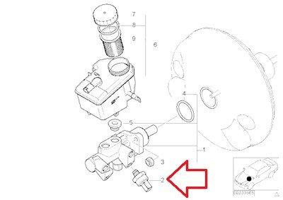 BMW Genuine Pressure Sensor for Dynamic Stability Control