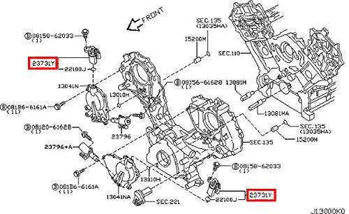 Infiniti 23731-2Y52A, Engine Camshaft Position Sensor