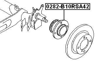 FEBEST 0282-B10RSA42 Rear Wheel Hub