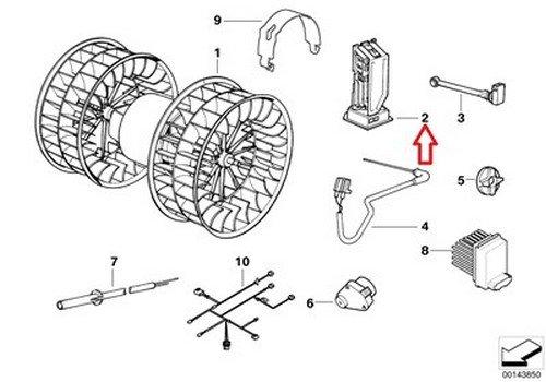 BMW OEM Blower Resistor E36 64 11 8 391 749 318i 318is