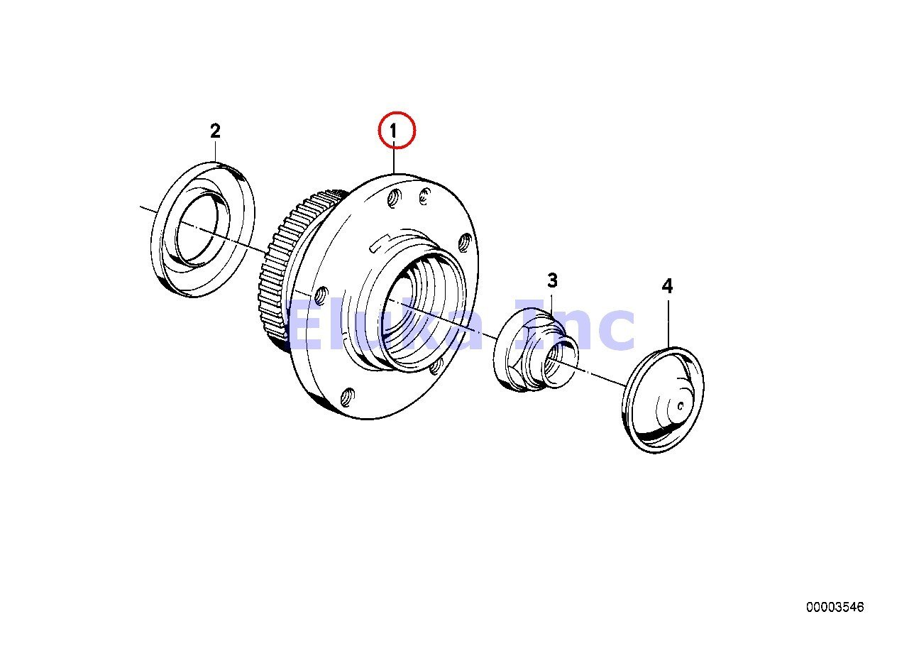 Bmw Genuine Collar Nut for Wheel Bearing Axle 24 X 1 5 Mm