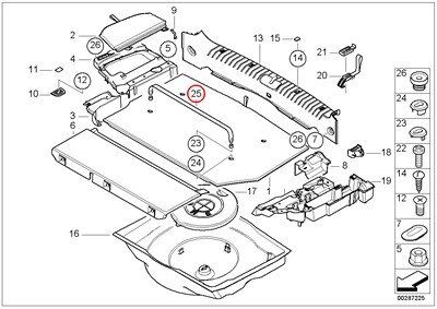 BMW Genuine Trunk Floor Trim Panel Band Clamp Black L=590