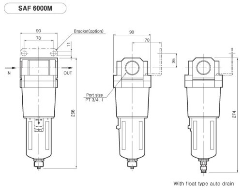 Pneumaticplus Saf400-n04b Compressed Air Particulate