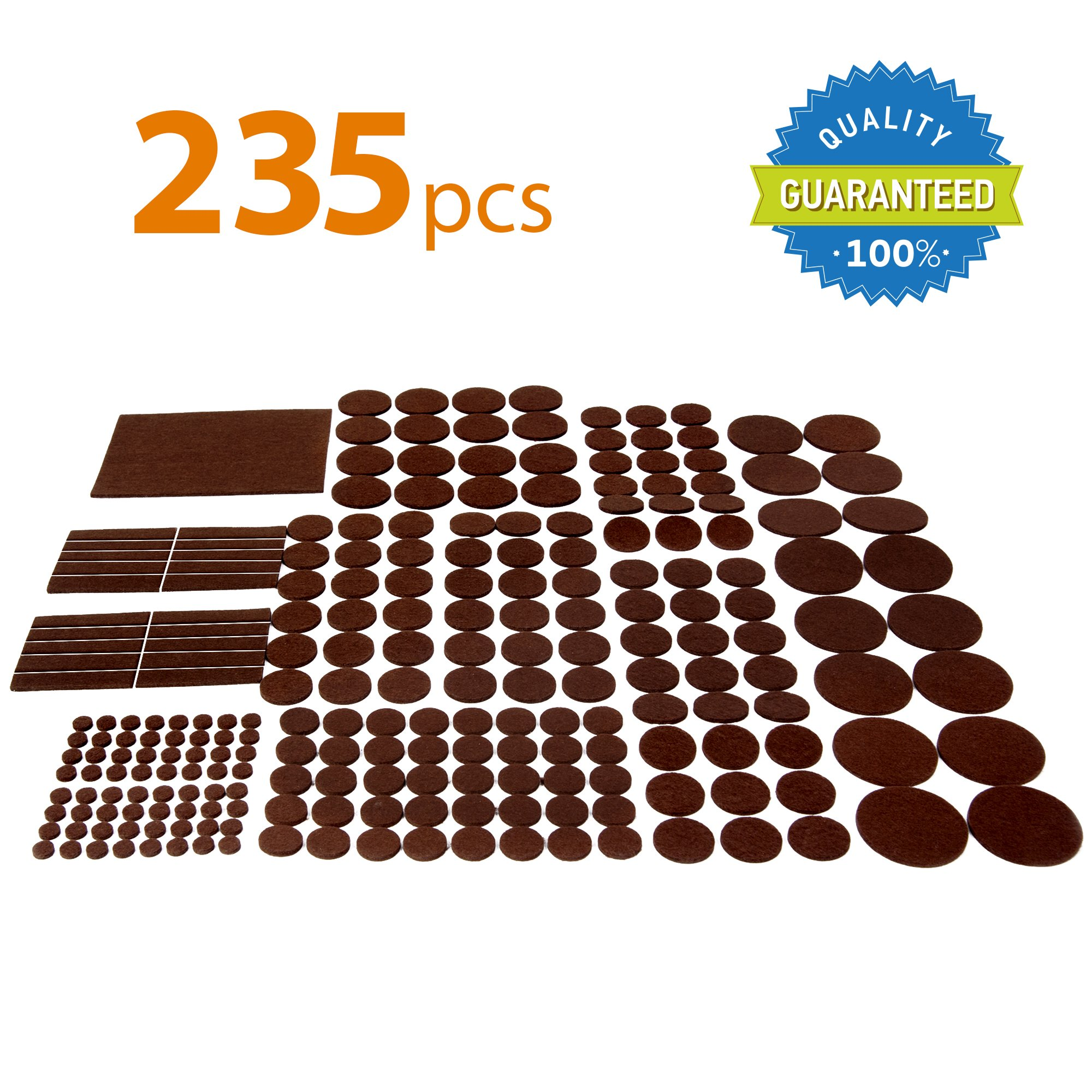 Best Chair Pads For Hardwood Floors X Protector Premium Giant Pack Furniture Pads 235 Piece