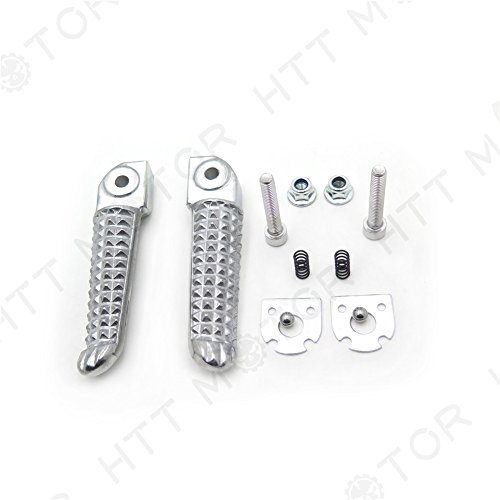 XKMT Group Motorbike Polished/Silver Rear Foot Pegs