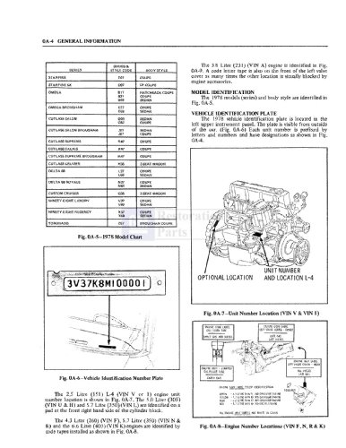 1978 Oldsmobile Chassis & Electrical Service Repair Manual