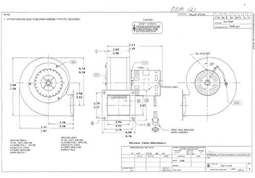 Whitfield 12126109 Stove Blower 1/35 hp, 3000 RPM, 115V