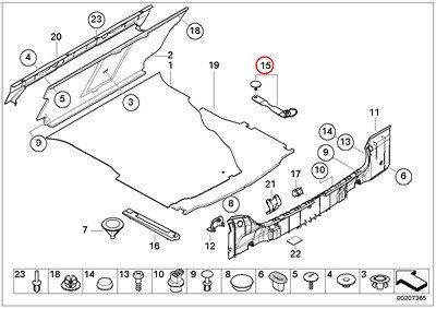 BMW Genuine Trunk Floor Trim Panel Trunk Trim Panel
