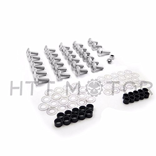 Xkmt Group Motorcycle Silver Round Fairing Bolts Screw Kit