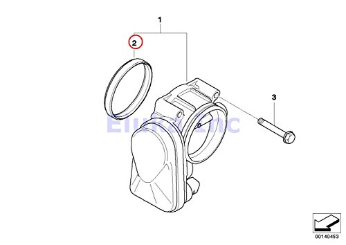 Bmw Gasket Set Intake Manifold to Cylinder Head 525i 525xi
