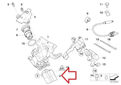 BMW Genuine Steering Lock Ignition Switch for 740i 740iL