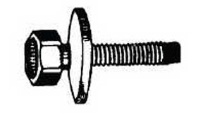 W & E Fasteners 6mm X 20mm Body Bolt Indented Hex Head