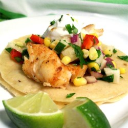 Fiery Fish Tacos with Corn Salsa - Recipe @ AllRecipes.com