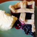 Blueberry Pie - There is nothing to beat a fresh blueberry pie. It doesn't need much: sugar, a bit of cornstarch to thicken all the nice juices and cinnamon. It's perfect with fresh berries, but still mighty fine with frozen ones.