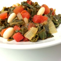 Collard Greens with White Beans Recipe