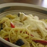 angel hair pasta with peppers