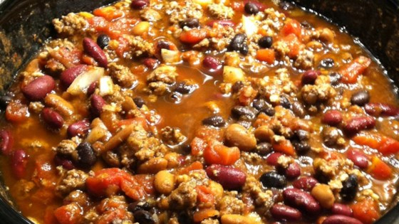 Slow Cooker 3 Bean Chili Recipe