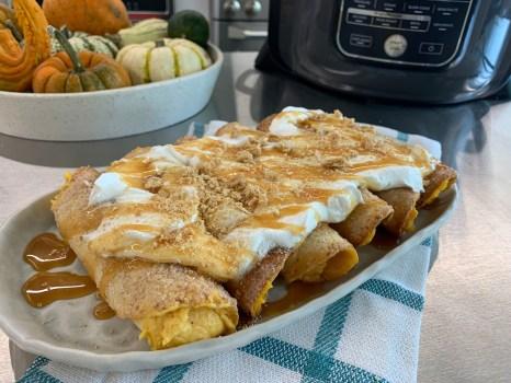 Pumpkin Cheesecake Enchiladas