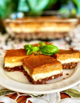 Pumpkin Bars with Cream Cheese Filling
