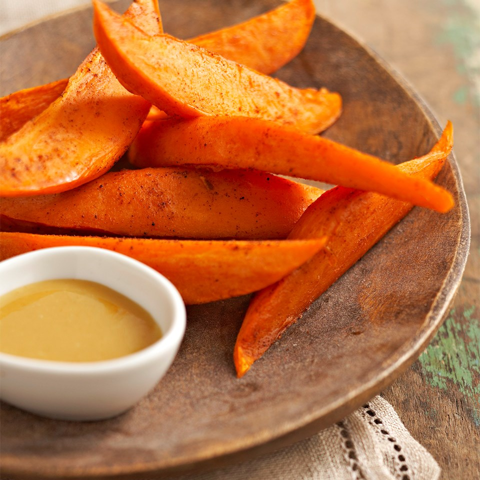 sweet potato wedges with