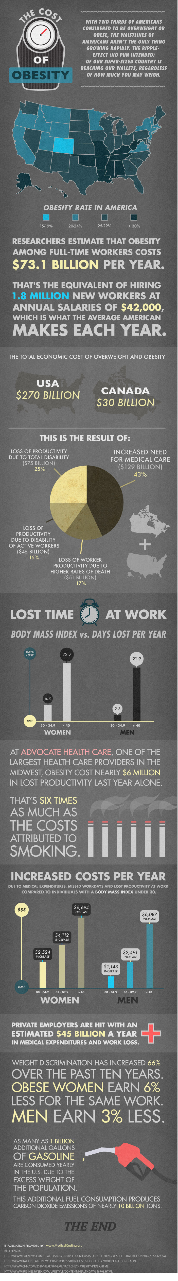 cost of obesity Cost of Obesity in America: Stats & Analysis