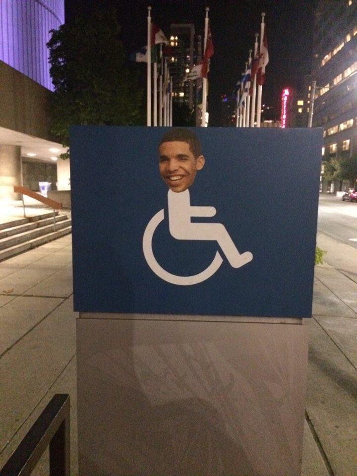 wheelchair jimmy meme grey bedroom chairs uk drake's face appears on signs all over toronto: throwback to 'wheelchair jimmy'