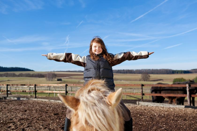 Little girl on horse