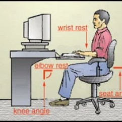 Ergonomic Chair Keyboard Position See Through Dining Chairs Ergonomics Computer Workstation Seat