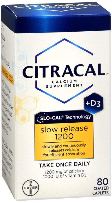 Citracal Calcium + D Slow Release 1200 - 80 Tablets ...
