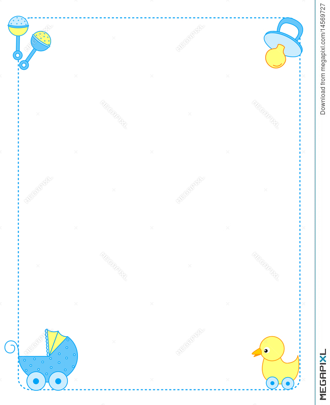 Border Design For Baby : border, design, Border, Illustration, 14569727, Megapixl