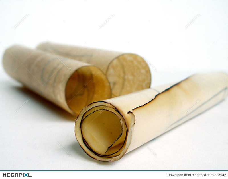 old paper scrolls stock