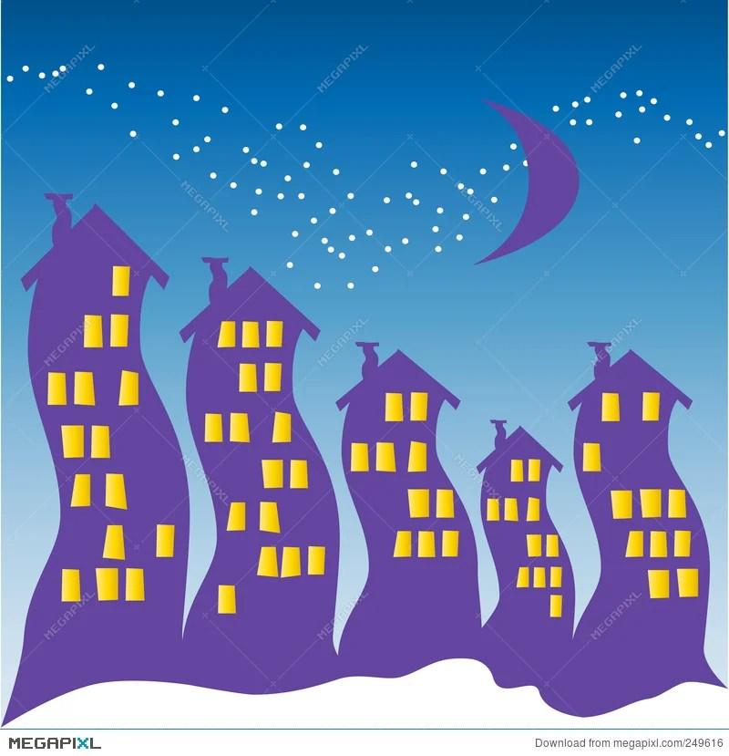 night sky halloween illustration