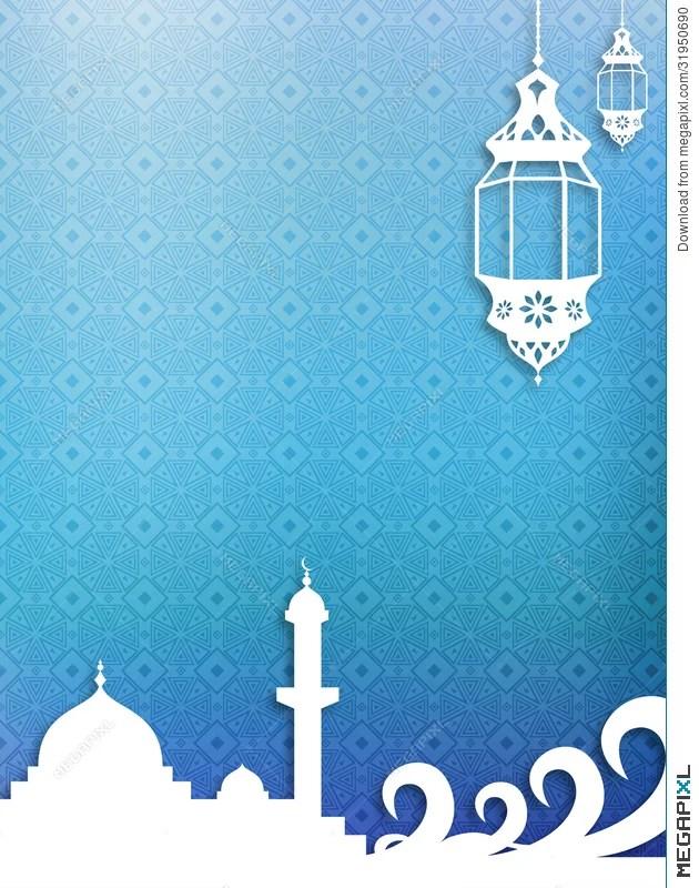 Background Pamflet Ramadhan : background, pamflet, ramadhan, Islamic, Theme, Background, Illustration, 31950690, Megapixl