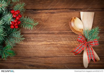 Christmas Menu On Wooden Background Top View Stock Photo 63421473 Megapixl