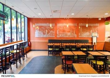 Subway Fast Food Restaurant Interior Stock Photo 65892258 Megapixl