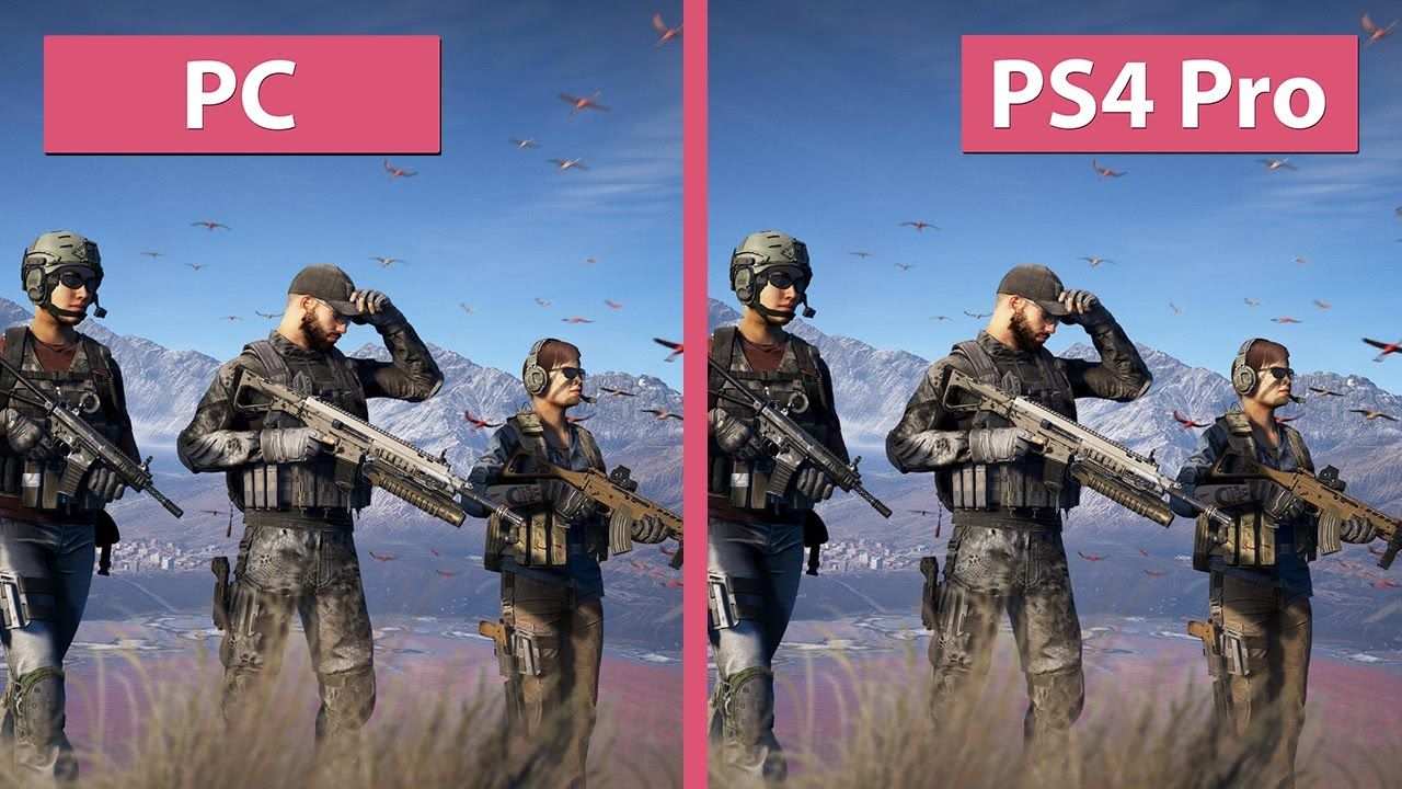 Ghost Recon Wildlands 4K Kampf PC Gegen PS4 Pro Im