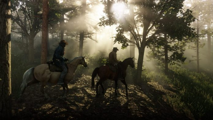 Red Dead Redemption 2 horses forest