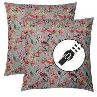 Set of 2 Pillow, sofa cushion 45x45cm, 100% cotton with ...