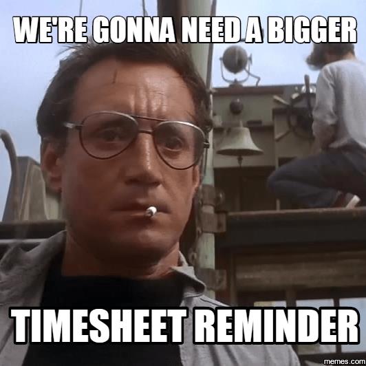 Timesheet Reminder Meme