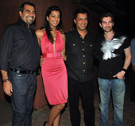 Madhur,Neil and Mugdha Poses at Godse Birthday Bash