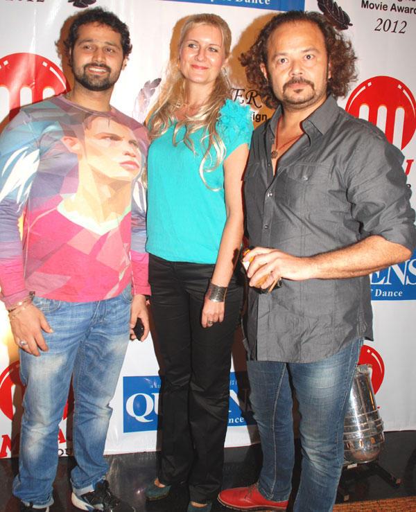 Mudasir,Victoria and Raj Zutshi at Los Angeles Movie Awards 2012