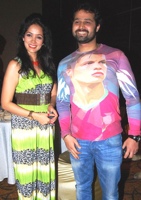 Vidya Malvade and Mudasir Ali Smiling Pic at Los Angeles Movie Awards 2012