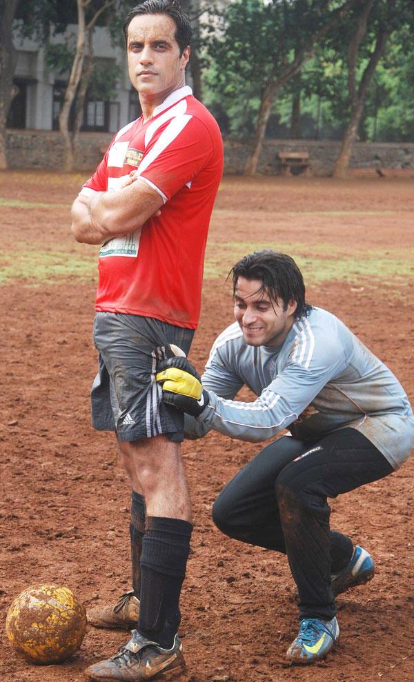 TV Stars at Gold Charity Soccer Football Match