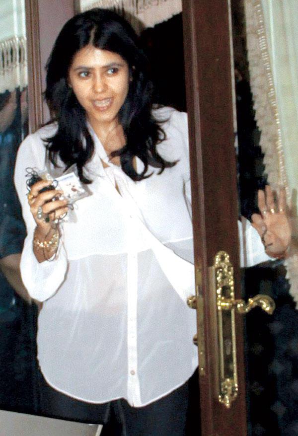 Ekta Kapoor at Mika Singh Birthday Bash